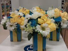 Duckies !!! Shower centerpiece just change out colors or duck ... Birthdays, weddings and showers