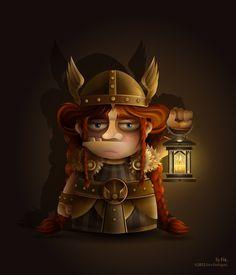 Vikinga by Gina Rodriguez, via Behance