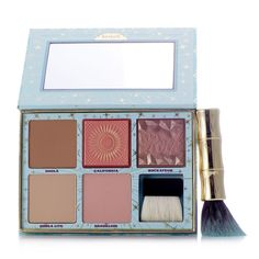 232329 Benefit 6 Piece Cheek Parade QVC Price: £49.50   Feature Price: £44.82 + P&P: £3.95 The gorgeous six-piece Cheek Parade palette from Benefit includes their iconic Hoola bronzer and Hoola Lite, exciting golden-pink Galifornia blush, and more fabulous shades with their stylish Hoola brush. This complete blush kit boasts all of your favourites and is perfect for keeping in your handbag for touch-ups throughout the day.
