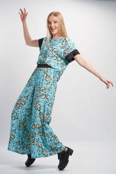 Vellamo Trousers - Light Blue :: Vuurran.fi Seventh Wave, Wide Leg Trousers, Black Fabric, Fabric Patterns, Woven Fabric, Light Blue, Elegant, Beautiful, Collection