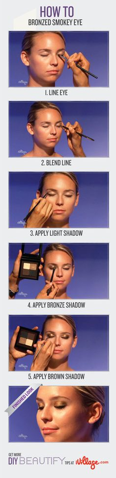 Learn how to create a bronzed smokey eye. #makeup #howto
