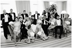 LOVE this casual candid picture of Wedding Party! PERFECT!