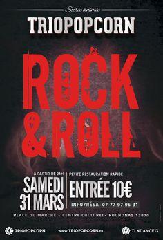 soirée dansante à rognonas avec le #groupe de #rock #nimes #gard #triopopcorn #musiciens #rocknroll #rockabilly