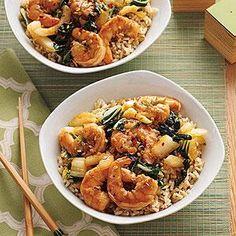 Stir-Fried Shrimp and Bok Choy Recipe   MyRecipes.com