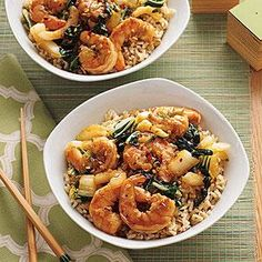 For a simple weeknight meal, toss together Stir-Fried Shrimp and Bok Choy. All you need for a balanced meal is tossed together in this one-dish dinner.