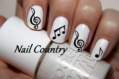 50pc Music Notes Nail Decals Nail Art Nail Stickers by NailCountry, $3.99