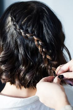Step 1: Start your braid at your crown. Take small strands from each side like a French braid, but skip adding hair on the side facing down.