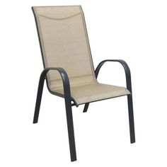 Stackable Aluminum Patio Chairs target home™ dumont 4-piece sling patio dining chair set - tan