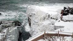 Thunder Hole, Acadia National Park, Maine. Winter 2015.
