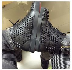 HIS AND HERS CHRISTIAN LOUBOUTIN SPIKE SNEAKERS| PINTEREST: LOVEMEBEAUTY85