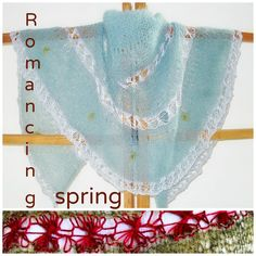 Romancing spring e-book with 2 shawls and one necklace pattern now available. http://www.ravelry.com/patterns/sources/romancing-spring-e-book