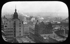 Views: Brooklyn, Long Island, Staten Island. Brooklyn scenes; buildings. View 007: Bird's Eye View from Building of Franklin Trust Company.