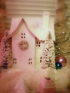 Christmas Village! For more inspiration like this, check out Mikey Fuller at www.ShabbyFrenchCottage.com.