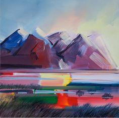 Litríkur Morgunn (colourful morning), oil on canvas - Iceland - Tolli Morthens