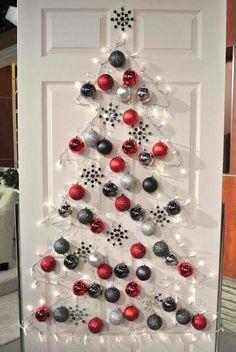 DIY Christmas tree front door