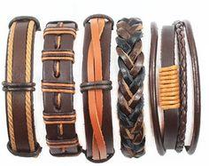 Regalos para él pulseras de cuero de los por BraceletStreetUSA