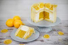 Orangentorte mit fruchtigem Kern