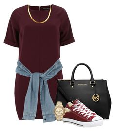 """""""Sylvie Finesse"""" by trillest-fashion ❤ liked on Polyvore featuring Dorothy Perkins, MICHAEL Michael Kors, Converse, River Island and Michael Kors"""