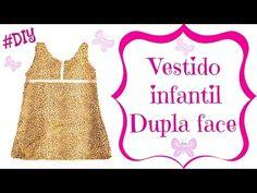 VESTIDO INFANTIL DUPLA FACE   Atelier Costurando Comigo by Fátima Valéria - YouTube