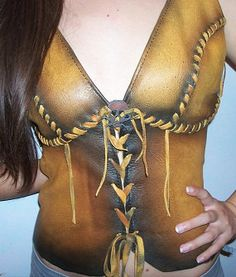 Leather Corset Bustier with Skull and Cross Bones by dleather