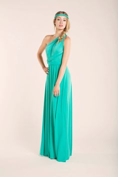 Light turquoise Floor Length Infininty Dress light by mimetik Ships worldwide from Barcelona to #eeuu #australia #canada #argentina #mexico #brasil #italy #germany #france #sweden #austria
