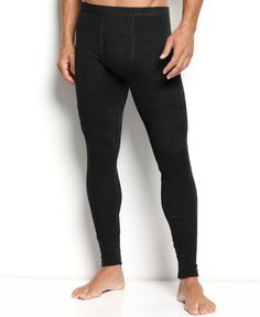 MyPakage Pro Series Men's Full Length Long Underwear Black/White ...