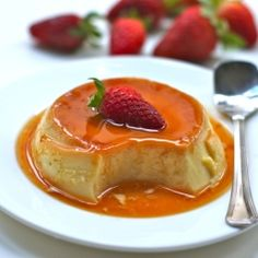 Creme caramel - A popular custard dessert with a layer of soft caramel on top. Four ingredients, a simple procedure and a fabulous outcome makes this recipe