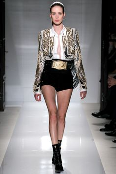 Balmain Spring Summer 2012 SS12 - Short jacket + opened shirt + shorts