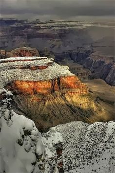Winter at Grand Canyon, Arizona, USA