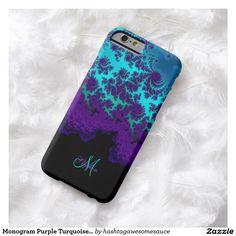 Monogram Purple Turquoise Fractal iPhone 6 Case