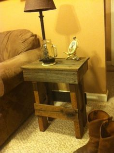 Reclaimed wood pallet tables by LetEmLiveReclaimed on Etsy, $35.00