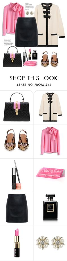 """Chic"" by felicitysparks ❤ liked on Polyvore featuring Gucci, Boutique Moschino, Marni, Chicwish, Clinique, McQ by Alexander McQueen, Chanel, Bobbi Brown Cosmetics and Roman"