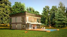 Prefabricated accessible technological homes designed by Philippe Starck and Riko
