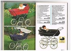 Here you can find a dvd with 600 pages of pram ads, and pages of prams in vintage catalogues from the 1960's until 1990's! Awesome for pram collectors!