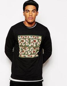 ASOS Sweatshirt With RUN DMC Camo Print