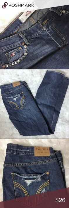 EUC Destroyed Hollister Jeans Size 9 EUC!!! Hollister Jeans Boot Cut