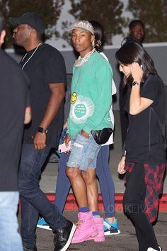 "Pharrell Williams wearing  Cactus Plant Flea Market Brown Hat, Timberland 6"" Premium Boots, Apple iPhone 7 Plus Silicone Case"