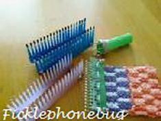 Mini knitting loom · how to make a loom · knitting and needlework on Loom Knitting Stitches, Knifty Knitter, Loom Knitting Projects, Knitting Blogs, Yarn Projects, Knitting Tutorials, Crochet Projects, Finger Crochet, Finger Knitting