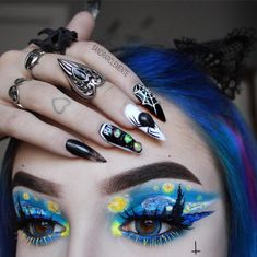 Best Chosen Acrylic Coffin Nails Design For Prom And Party What's Makeup ? What is Makeup ? Generally speaking, what … Face Paint Makeup, Eye Makeup Art, Colorful Eye Makeup, Body Makeup, Makeup Inspo, Makeup Inspiration, What Is Makeup, Makeup Eye Looks, Crazy Makeup