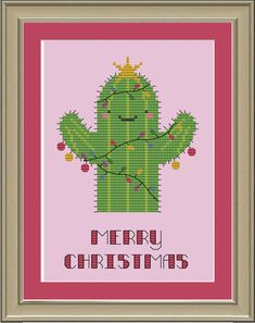 Christmas cactus: cute cross-stitch pattern. $3.00, via Etsy.