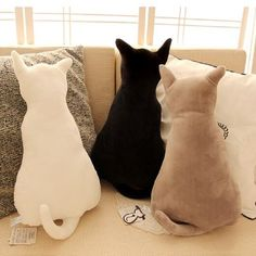 Description: Super cute soft plush back shadow cat seat sofa pillow cushion. - Description: Super cute soft plush back shadow cat seat sofa pillow cushion… Check more at 5 - Sewing Pillows, Diy Pillows, Sofa Pillows, Cushions, Throw Pillows, Decorative Pillows, Funny Pillows, Wash Pillows, Pillow Ideas