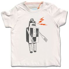 Organic cream Build a Robot tshirt short sleeve by alittlelark