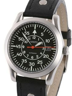 Aristo 3H33/3 Swiss Automatic Pilot Watch with Sapphire Crystal. Cool flieger style watch with an ETA movement and sapphire crystal. $690.