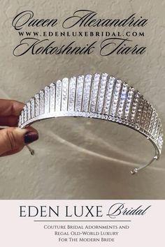 Wedding Tiara Veil, Wedding Tiaras, Bridal Tiara, Wedding Gowns, Bridal Show, Bridal Style, Diamond Tiara, Royal Brides, Fine Jewelry