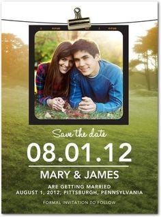 Signature White Photo Save the Date Cards, country wedding inspiration #2014 Valentines day wedding #Summer wedding ideas www.dreamyweddingideas.com