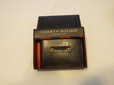 Tommy Hilfiger Men's billfold wallet Valet brown 31HP130007 leather TH NEW case…