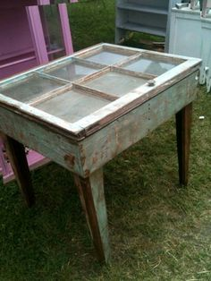 Idea for shallow jewelry display case using old windows