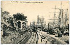 Nantes, le port au niveau des rochers de l'Hermitage