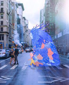 New York Street, New York City, Animal Crossing Wild World, Chinese American, Nyc Art, Colossal Art, Web Design, Character Design Animation, City Streets