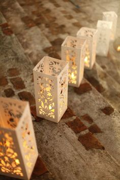 Such a romantic way to add light to a wedding!